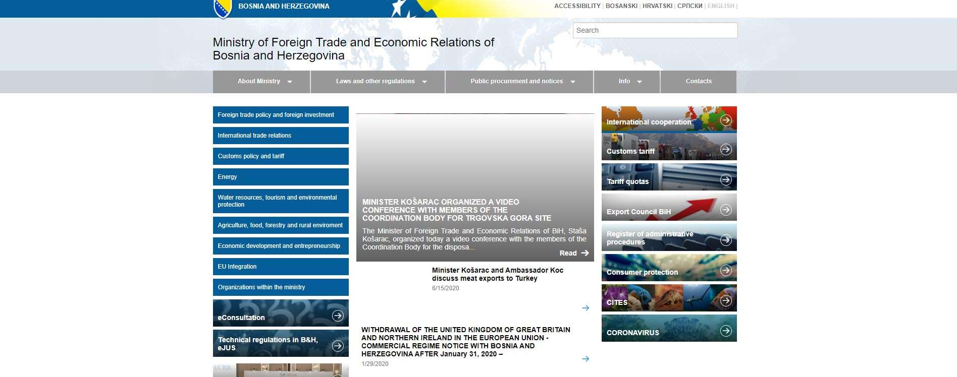 Ministry of Foreign Trade and Economic Relations of Bosnia and Herzegovina