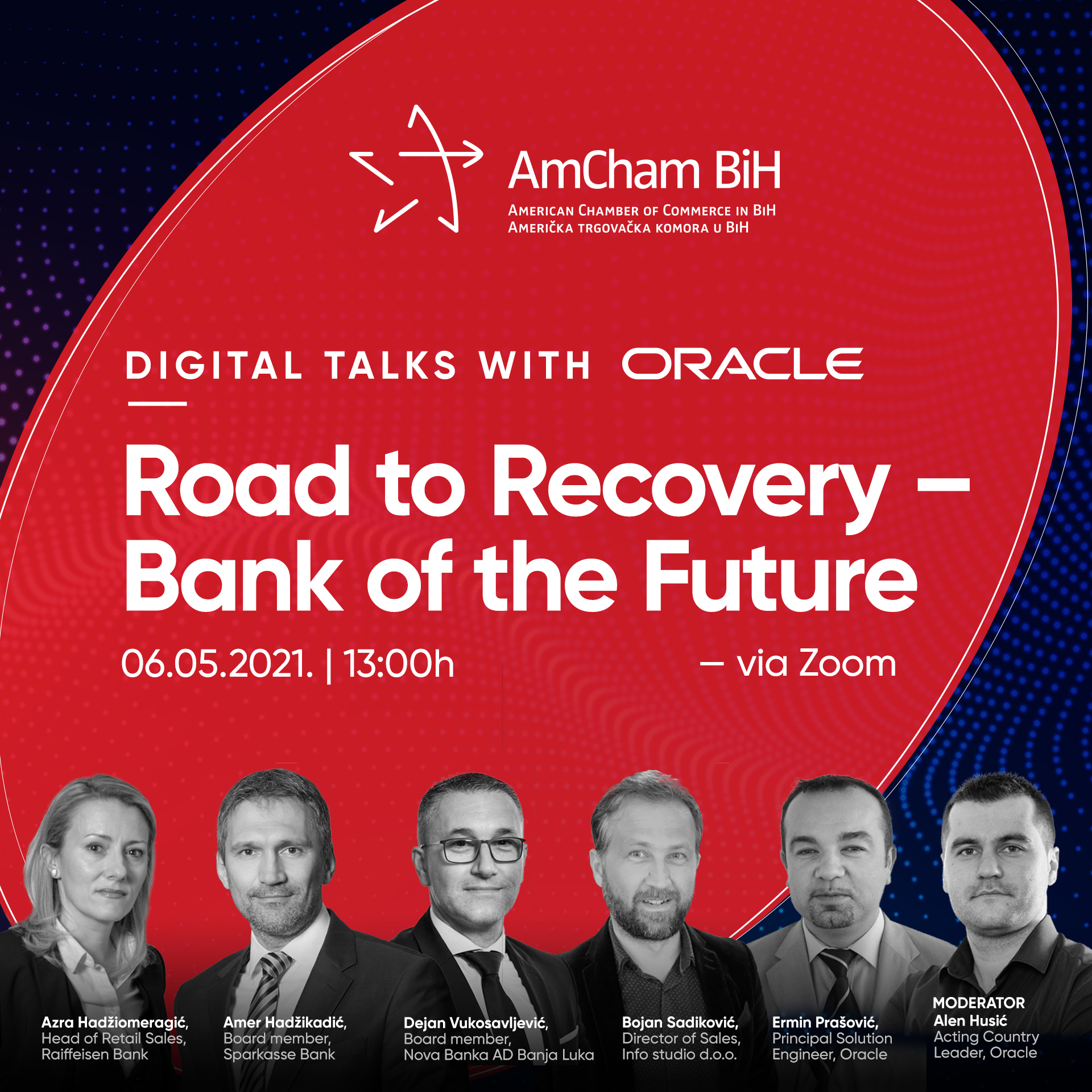 AmCham BiH Digital talks with Oracle: Road to Recovery - Bank of the Future