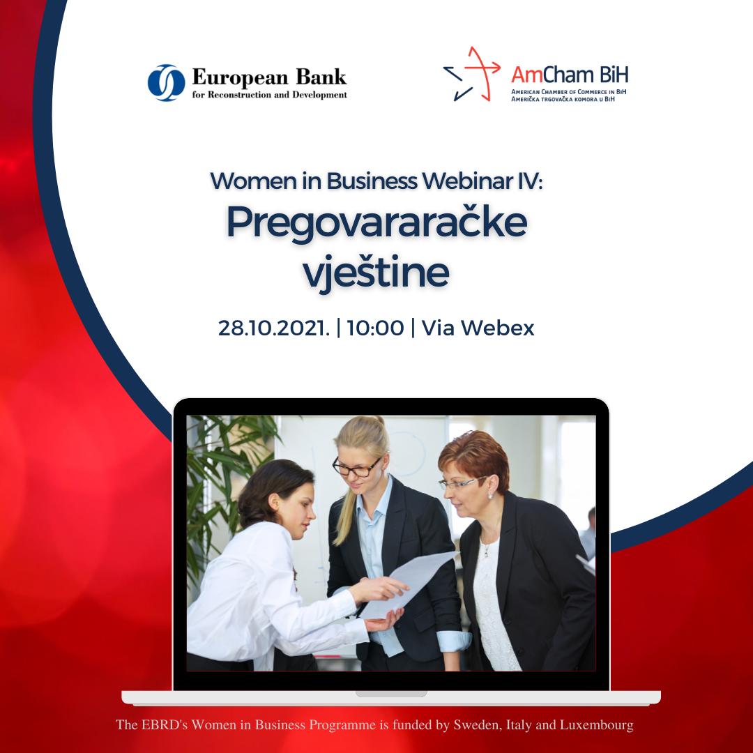 AmCham & EBRD - Women in Business - Webinar IV